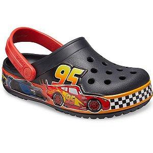 Crocs  Infantil Carros Mcqueen - Cinza e Vermelho - FunLab Clog