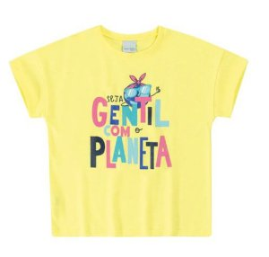 Blusa Infantil Planeta Amarela - Malwee
