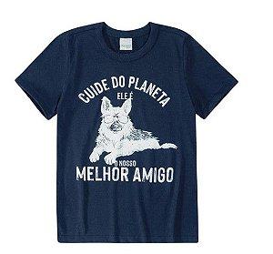 Camiseta Cuide do Planeta - Azul Marinho - Malwee