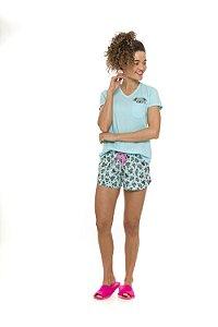 Pijama Short Doll Coala - Verde - Adulto