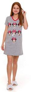 Camisola Juvenil Minnie Semana Cinza - Coleção Mãe e Filha