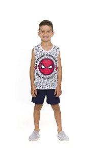 Pijama Homem Aranha Marvel - Azul Marinho e Branco - Infantil