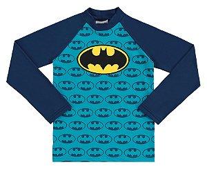 Camiseta Proteção UV Infantil Menino Batman Azul - Marlan