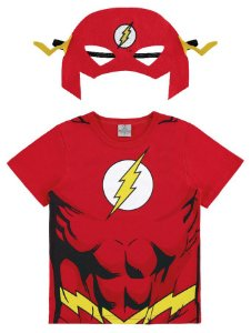 Camiseta Flash com Máscara Vermelha - Marlan