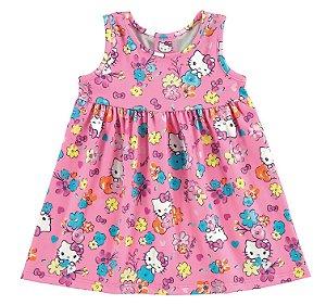 Vestido Bebê Hello Kitty - Rosa - Marlan