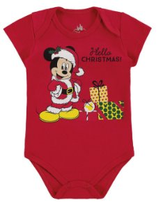 Body Mickey Disney Natal - Vermelho - Marlan