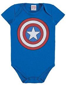 Body Capitão América Marvel - Azul - Marlan
