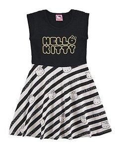 Vestido Hello Kitty - Preto e Branco - Marlan