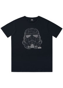 Camiseta Adulto Stormtrooper Star Wars Preta Manga Curta - Fakini
