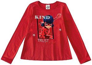 Blusa Ladybug Miraculous - Vermelha - Malwee