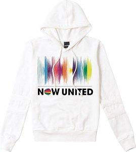 Blusa Moletom Now United - Branca - Malwee