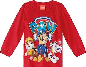 Camiseta da Patrulha Canina - Vermelho - Malwee
