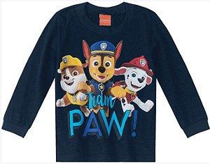 Camiseta Infantil Patrulha Canina Azul Marinho - Malwee
