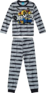 Pijama Hot Wheels - Cinza e Preto - Malwee
