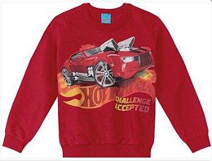 Moletom Infantil Hot Wheels Vermelho - Malwee