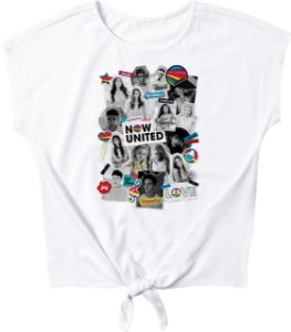 Blusa Juvenil Now United Branca - Malwee