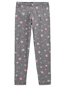 Legging Estrelas - Cinza e Rosa - Malwee