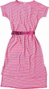Vestido Listrado Rosa e Branco - Malwee