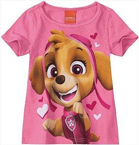 Blusa Infantil Patrulha Canina Skye Rosa - Malwee