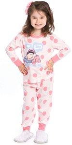 Pijama Bebê Mônica Salmão - Coleção Mãe e Filha