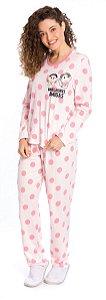 Pijama Adulto Mônica e Magali Salmão - Coleção Mãe e Filha