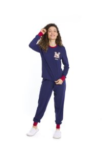 Pijama Turma da Mônica -Azul Marinho e Vermelho - Adulto