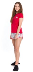 Pijama Juvenil Menina Mônica Vermelho - Coleção Mãe e Filha