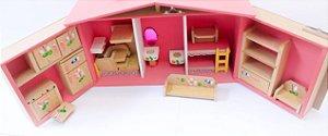 Casinha de bonecas - Maleta