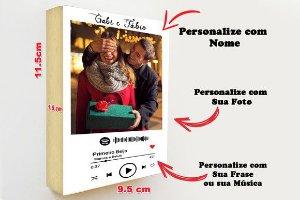 Quadro Formato Polaroide com Codigo Spotify