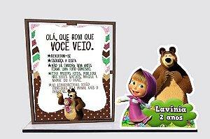 Porta Retrato Masha Eo Urso, Com 10 Unidades