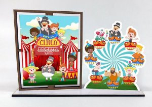 Porta Retrato Personalizado Bita Circo , Com 10 Unidades