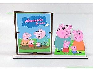 Porta Retrato Personalizado Peppa Pig , Com 10 Unidades