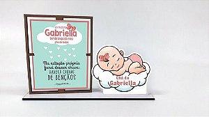 Porta Retrato Personalizado Chá De Bebê , Com 10 Unidades