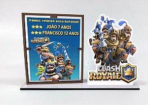 Porta Retrato Personalizado  Clash Royale , Com 10 Unidades
