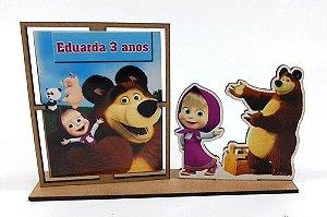 Porta Retrato Masha Eo Urso, Pacote Com 10 Unidades
