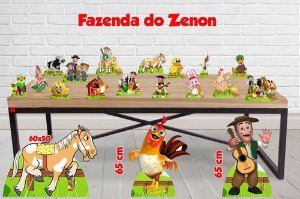 Totem Fazenda Do Zenon, Display Enfeite De Mesa