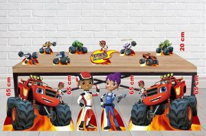 Display  Blaze Monster Machine, Totem Enfeite Para Festas