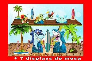 Display Fundo Do Mar, Totem Tubarão Enfeite De Aniversario