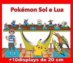 Display Pokemon Lua E Sol , Totem Enfeite De Aniversario