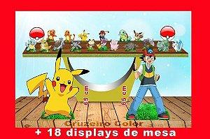 Display Pokemon,totem Enfeite De Aniversario Criança