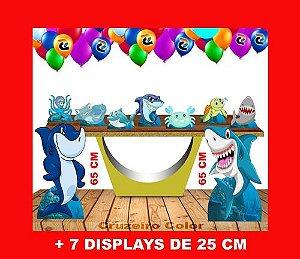 Display Tubarão Fundo  Mar, Enfeite De Aniversario
