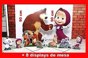 Displays  Masha Eo Urso,totens  Enfeite De Aniversario