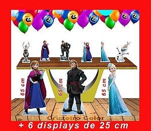 Totem De Chão Frozen E Displays De Mesa 65cm E 20 Cm