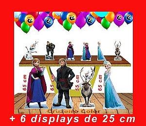 Totem De Chão Frozen E Displays De Mesa Kit Festa