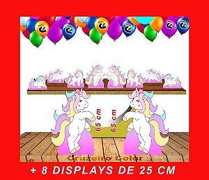 Totens De Chão Unicornio E Displays De Mesa 65cm E 25cm