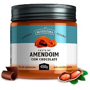 Pasta de Amendoim Chocolate Vegano 450g - Nutríssima