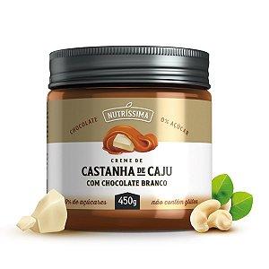 Creme Castanha de Caju Com Chocolate Branco 450g - Nutríssima