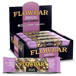 Barra de Nuts Dark Cranberry 70% Cacau 12 Unidades - FlowBar