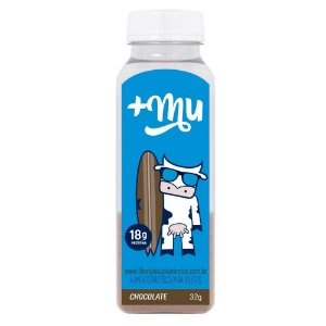 Whey + Mu Tradicional Garrafinha 32g Chocolate - Mais Mu
