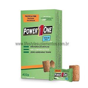 Paçoca com Proteína Vegana (432g) 24 Unidades - Power One